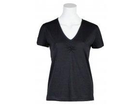 Dámské lehké funkční merino triko Malva SKHOOP - černá