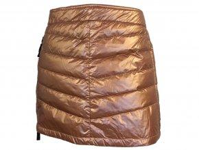 Prošívaná zimní péřová sukně Down Mini SKHOOP - měděná