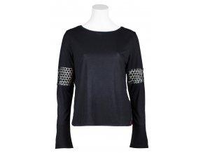 Dámské triko s dlouhým rukávem Pax SKHOOP - černá