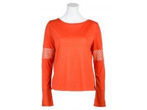 Dámské triko s dlouhým rukávem Pax SKHOOP - nektarinka