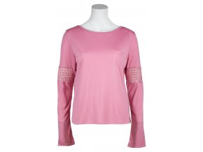 Dámské triko s dlouhým rukávem Pax SKHOOP - starorůžová